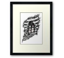 Looks infected Framed Print