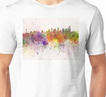 Seattle skyline in watercolor background Unisex T-Shirt