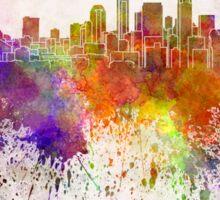 Seattle skyline in watercolor background Sticker
