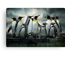 Penguins at Bourton Canvas Print