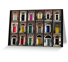 Georgian doors of Dublin Greeting Card