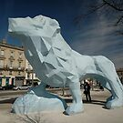 Blue Lion Sculpture, Stalingrad, Bordeaux, France 2012 by muz2142