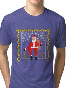 Christmas Eve Bling  Tri-blend T-Shirt
