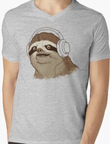 What is a sloths favourite music? Mens V-Neck T-Shirt