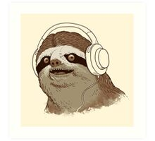 What is a sloths favourite music? Art Print