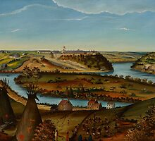 View of Fort Snelling, c.1850 by Bridgeman Art Library