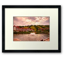 Blue Mountain - HDR Framed Print