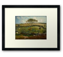 Pasture near Cherbourg (Normandy), 1871-2 Framed Print