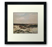 The Dunes at Camiers, 1871  Framed Print