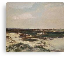 The Dunes at Camiers, 1871  Canvas Print