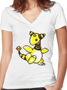 Ampharos Retro Women's Fitted V-Neck T-Shirt