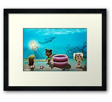 There's no water under the sea! Framed Print
