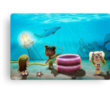 There's no water under the sea! Canvas Print