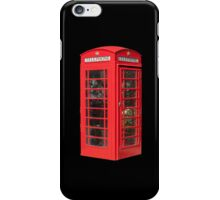 Red Telephone Box iPhone iPhone Case/Skin