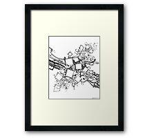Number One Box - Sketch Pen & Ink Illustration Art Framed Print