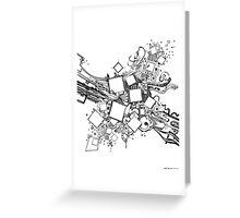 Number One Box - Sketch Pen & Ink Illustration Art Greeting Card