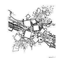 Number One Box - Sketch Pen & Ink Illustration Art Photographic Print
