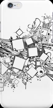 Number One Box - Sketch Pen & Ink Illustration Art by jeffjag