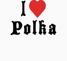 I Love Polka Womens Fitted T-Shirt