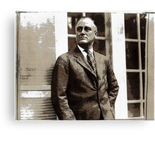 All The President's Heads #4 - FDR Canvas Print