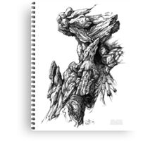 Rock Facade - Sketch Pen & Ink Illustration Art Canvas Print