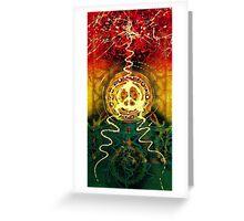 Peace, Love and Rasta Greeting Card