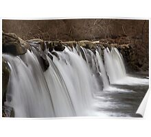 Small waterfall - time exposure Poster