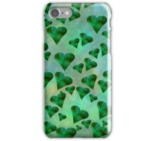 Emerald Hearts (iPhone/iPod) iPhone Case/Skin