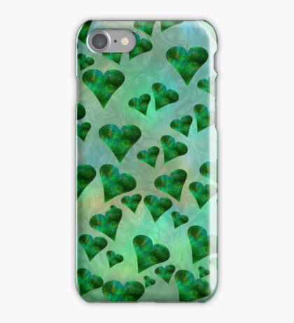 Emerald Hearts (iPhone/iPod) iPhone Case/Skin