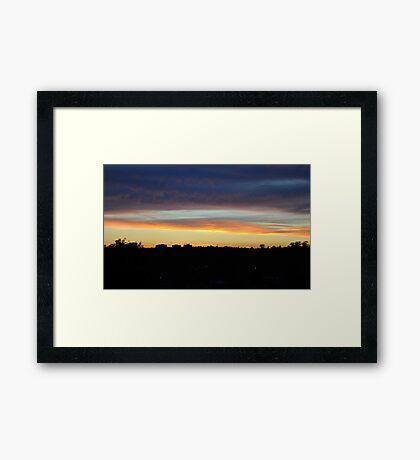 Sunset 5 Framed Print