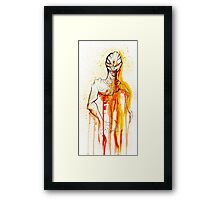CREEPER IN RED Framed Print