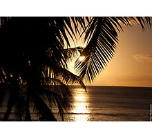 Sunset at Waikiki Photographic Print