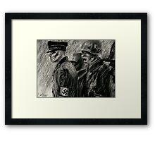 nazi zombies Framed Print
