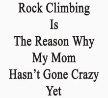 Rock Climbing Is The Reason Why My Mom Hasn't Gone Crazy Yet by supernova23