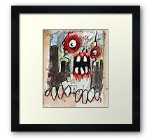 zombie surprise Framed Print