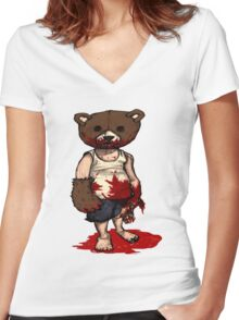 Cub Women's Fitted V-Neck T-Shirt