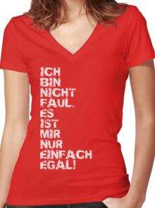 Faul Women's Fitted V-Neck T-Shirt