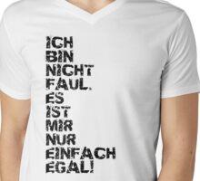 Faul Mens V-Neck T-Shirt