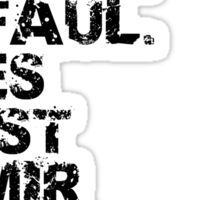 Faul Sticker