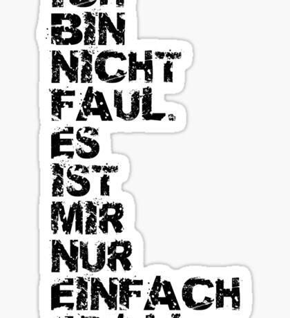 Faul Sticker