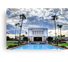 MESA TEMPLE LDS MORMON Canvas Print