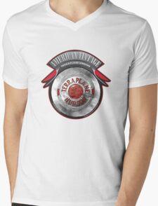 AMERICAN VINTAGE TERRA PLANE HUDSON HUBCAP Mens V-Neck T-Shirt