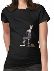serious bunny business Womens Fitted T-Shirt