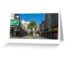 Rundle Mall - From Pulteney Street Intersection Greeting Card