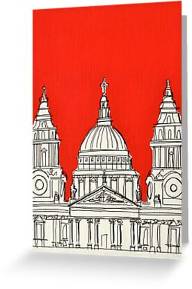 St Paul's Facade ( Orange ) by Adam Regester