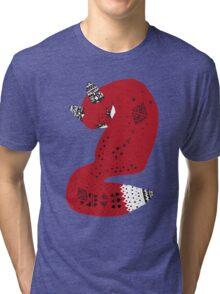 Red Tribal Fox Tri-blend T-Shirt