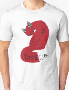 Red Tribal Fox Unisex T-Shirt