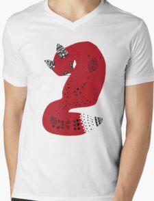 Red Tribal Fox T-Shirt