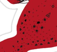 Red Tribal Fox Sticker