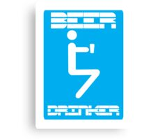 Beer Drinker Canvas Print